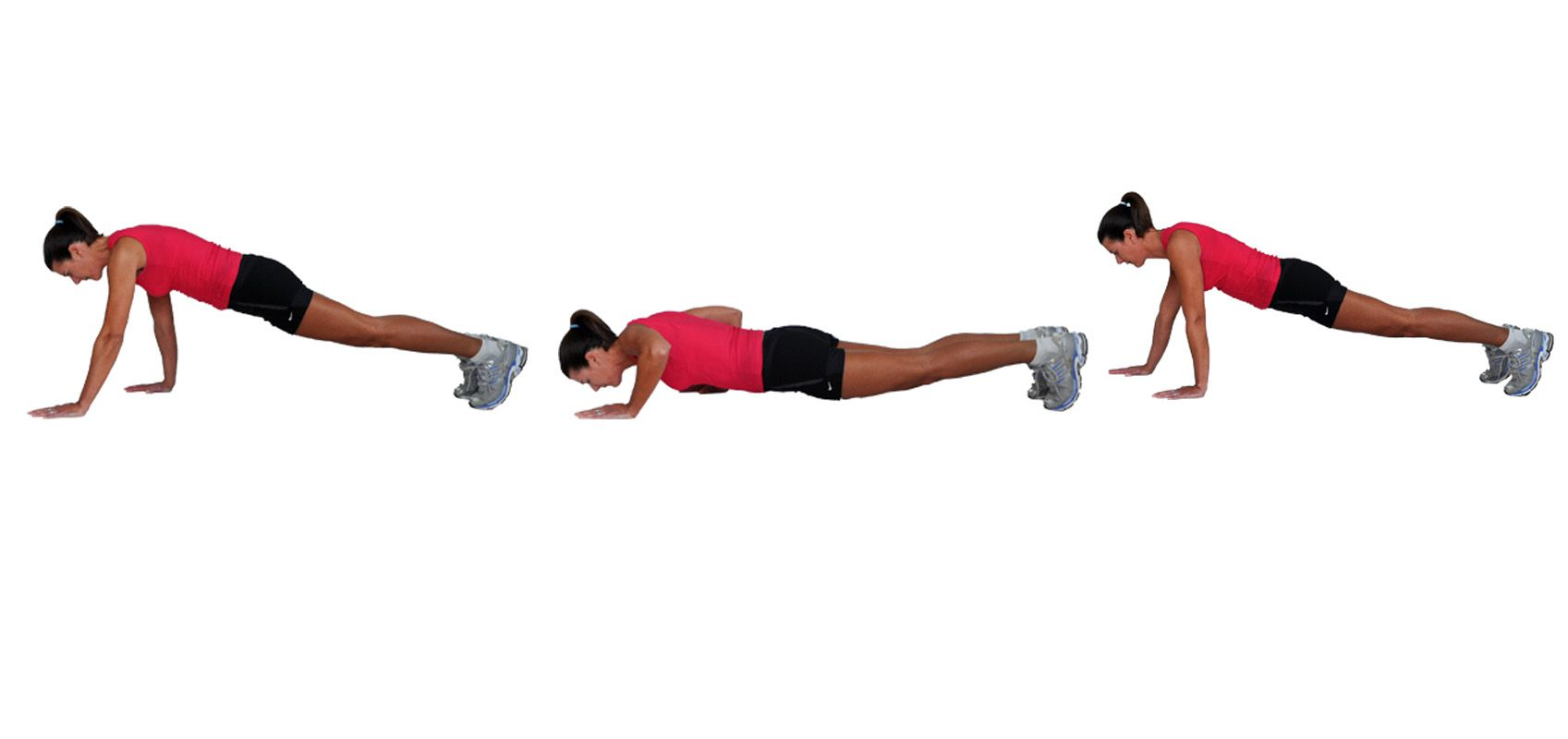 The No Equipment Travel Workout Circuit Training Exercises Staggered Pushups