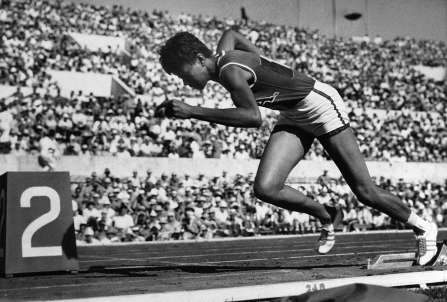 Wilma Rudolph en los Juegos Olímpicos de Verano de 1960 en Roma.
