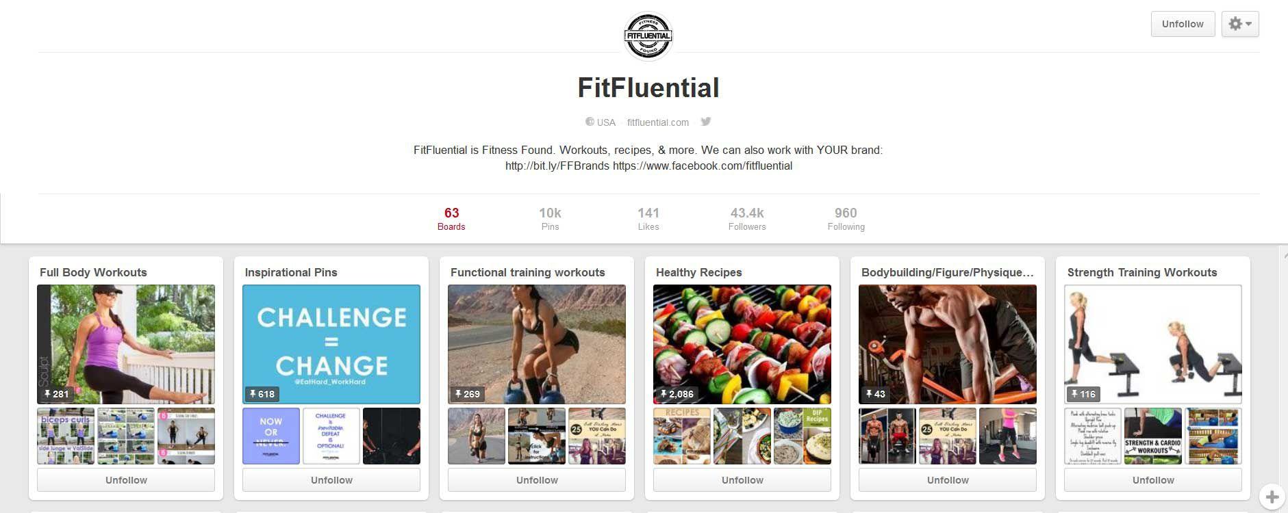 FitFluential Pinterest