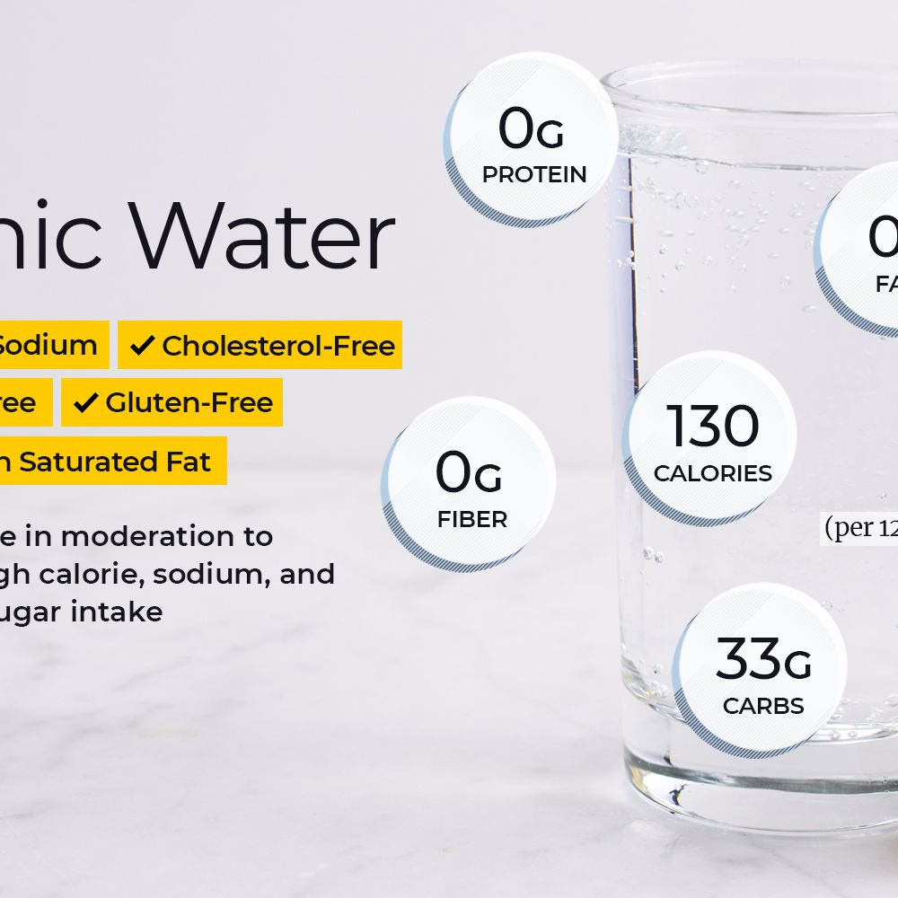 carbs and calories in diet tonic
