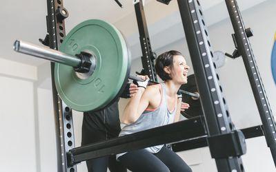 Woman doing Smith Machine Squats