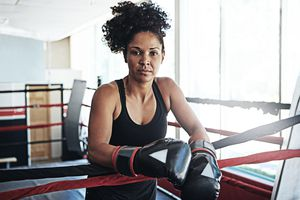 woman in boxing ring