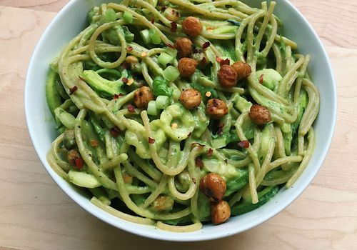 zucchini noodles with avocado