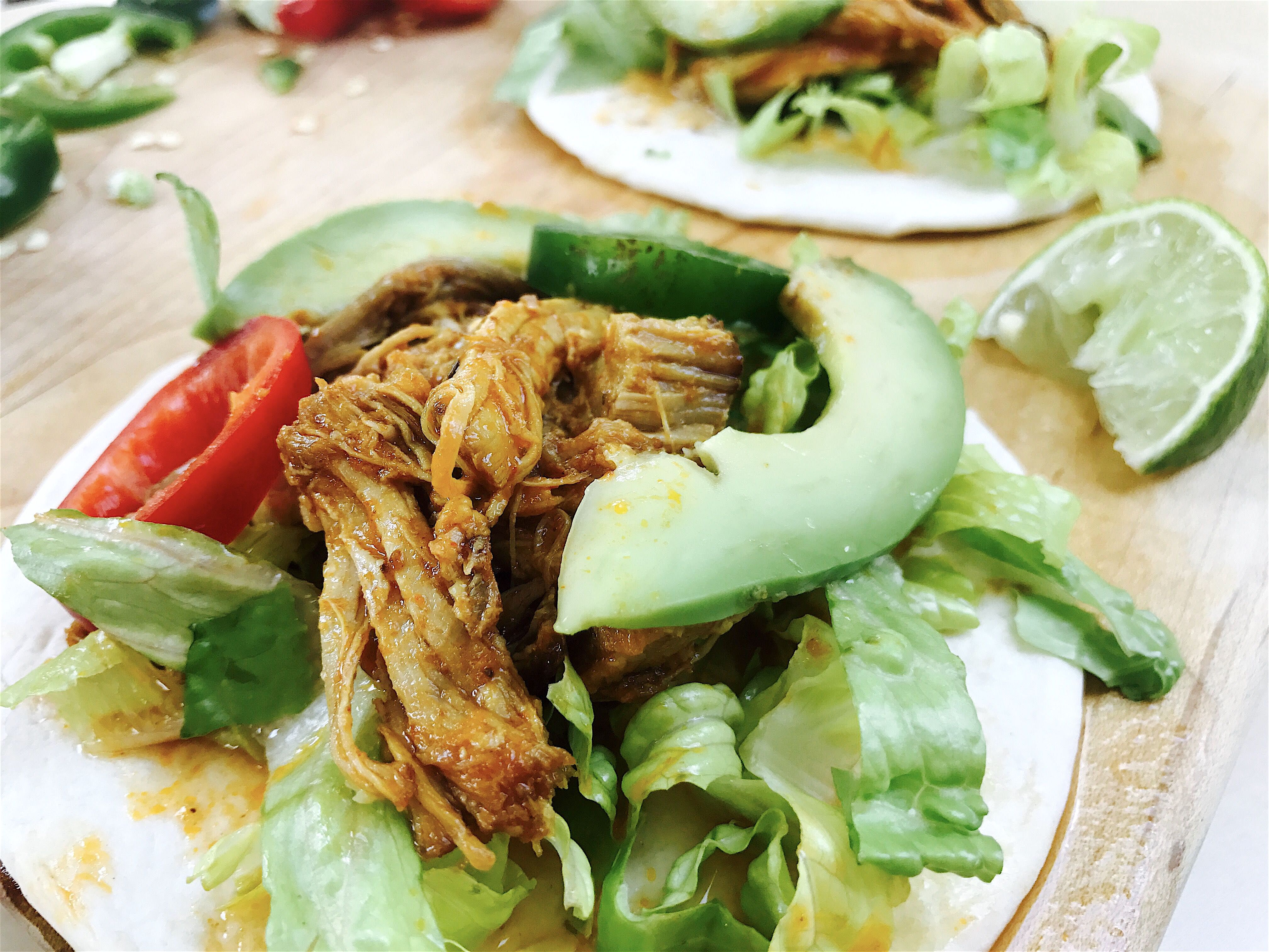 Slow Cooker Pulled Pork Street Tacos