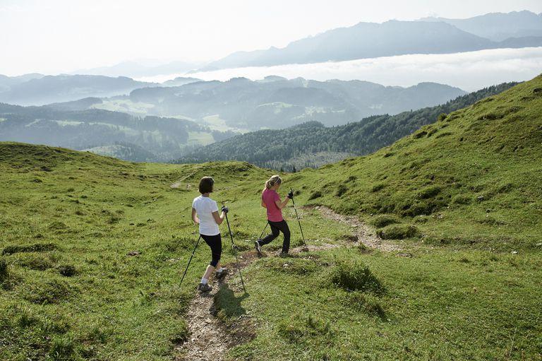 Nordic Walking Downhill in Austria