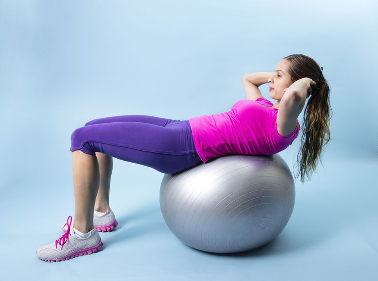 Fitness Woman abdominal exercise