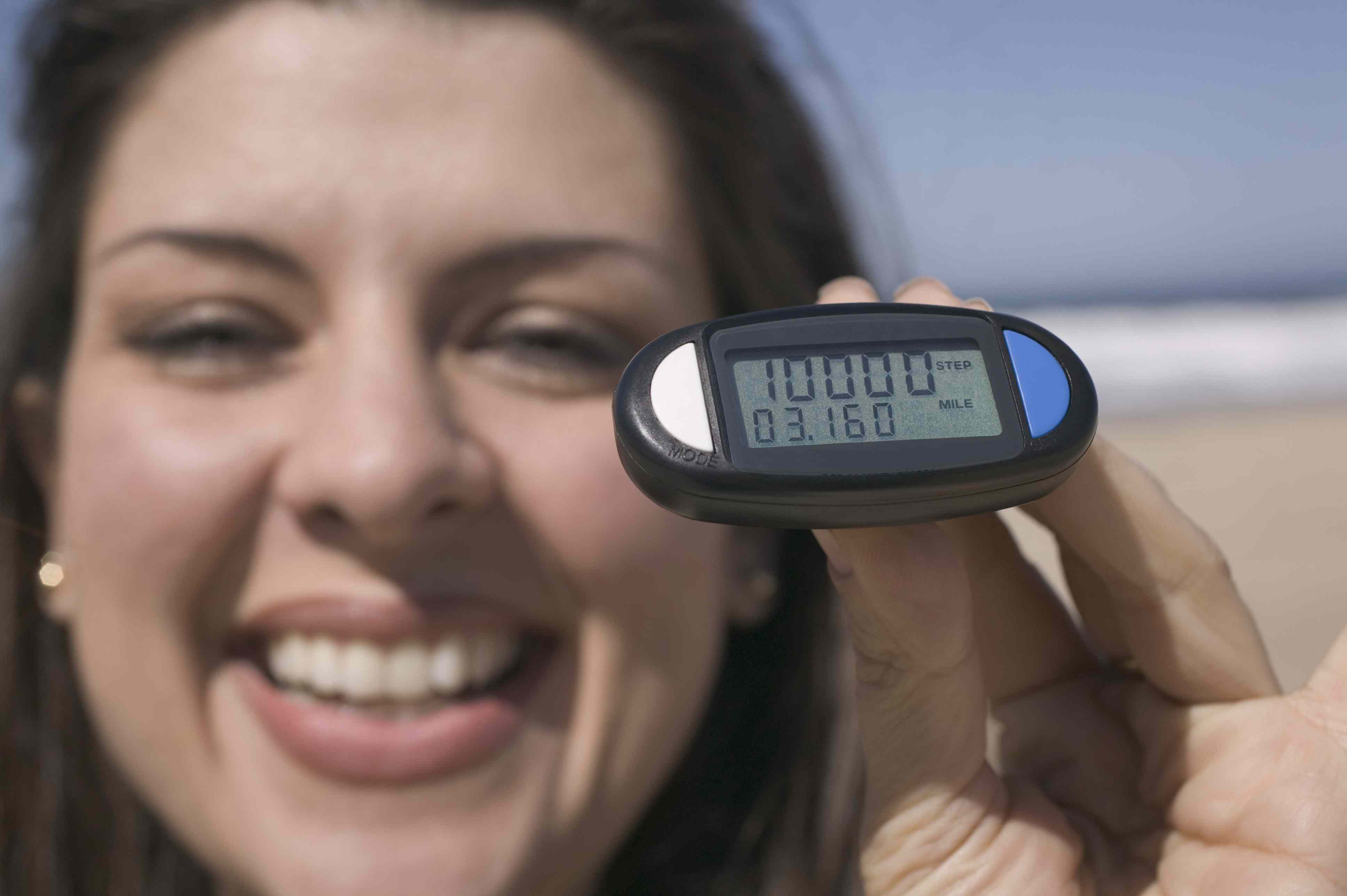 10000 Steps on a Pedometer