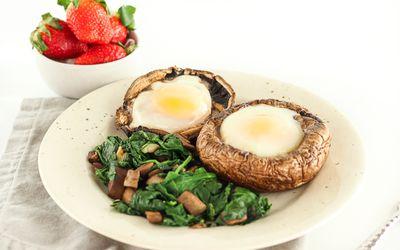 Low-Carb Portabella Mushroom Baked Eggs