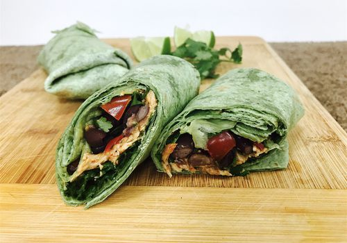healthy chicken burritos