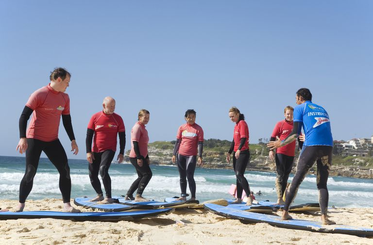 adults in surf class