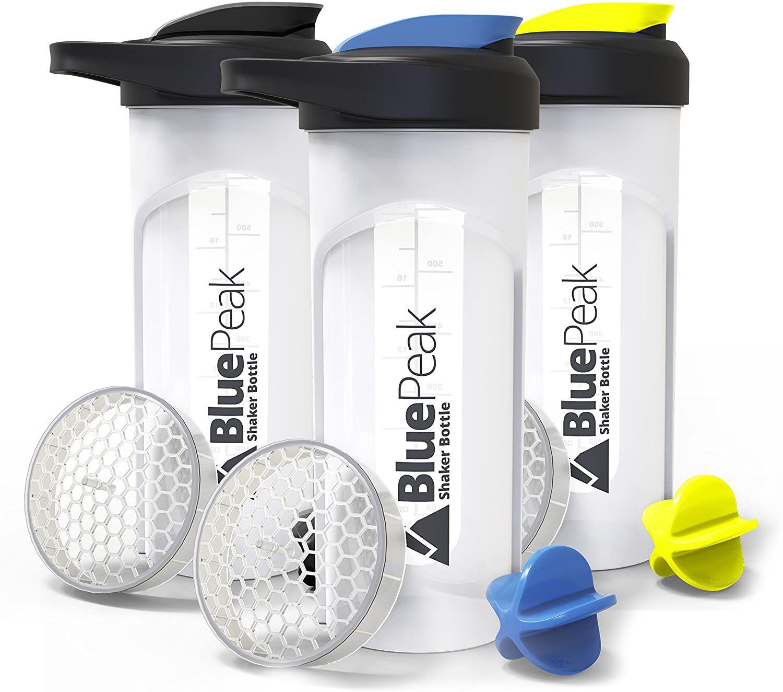 BluePeak Protein Shaker Bottles
